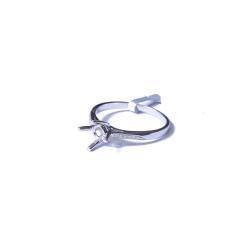 爱斯克拉珠宝 钻石戒指 18k镶钻戒托