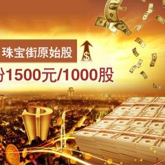龙8国际娱乐游戏街原始股  每份1500元/1000股