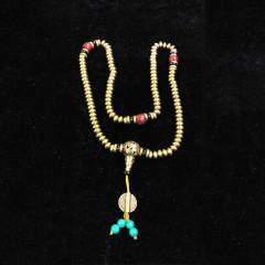 大众古玩    藏铜佛珠项链     时尚饰品项链