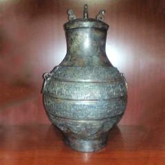 大众古玩   青铜器酒壶一尊    奇趣收藏摆件