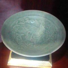 大众古玩   越窑刻花纹碗一个    奇趣收藏摆件
