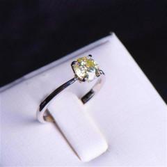 唐婉珠宝 18K金钻石戒指  金重2.22g 主石重1ct(克拉)净度S1 / IJ  钻石