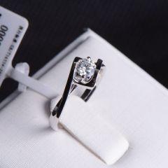 唐婉珠宝18K金钻石戒指  金重2.32g 主石重0.33ct(克拉)净度VS2/E 钻石