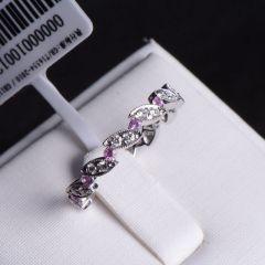 唐婉珠宝 18K金钻石戒指  金重2.50g  主石重0.26ct(克拉) 钻石