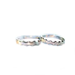 瑞华银饰 白银 白银戒指(一对)