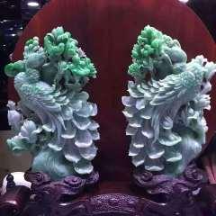 銘玉堂珠宝批发  『风华绝代』老种带辣色,雕工栩栩如生,大师级工艺摆件
