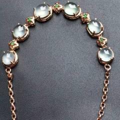 銘玉堂珠宝批发  高冰种手链,完美无瑕,种水一流,特价