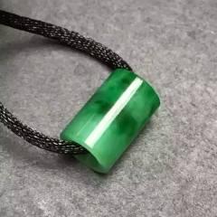 銘玉堂珠宝批发 特惠:翠绿路路通(时来运转)镶嵌翻倍完美无纹裂性价比