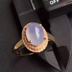 銘玉堂珠宝批发  冰紫女戒指,完美无裂纹,种色一流,豪华镶