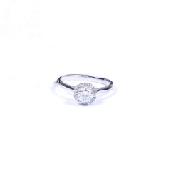 金榕珠宝 AU750  白金戒指  0.506ct