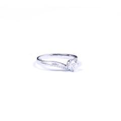 金榕珠宝 AU750  白金戒指  0.422ct