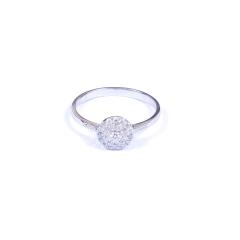 金榕珠宝 AU750 白金戒指  0.265ct