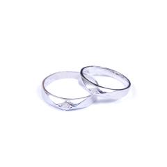 金榕珠寶 AU750 白金戒指 男款