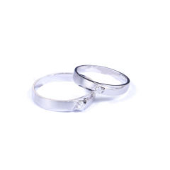 金榕珠寶 AU750 白金情侶戒指 男款