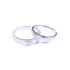 金榕珠寶 AU750 白金戒指  情侶款 男款