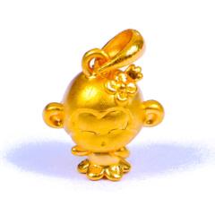 金榕珠寶 黃金公主猴 1.6g