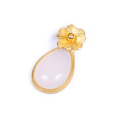 金榕珠寶 3D硬金如花似玉鑲嵌吊墜 1.25g