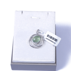 恒遠珠寶 18k葡萄石掛件(配石:鉆石)