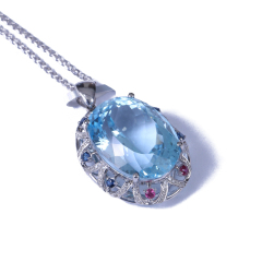 恒遠珠寶 18k金帕托石掛件(配石:鉆石、紅寶石、藍寶石)