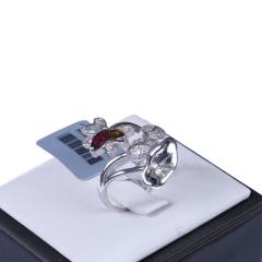 恒遠珠寶 S925碧璽戒指(配石:鉆石、碧璽)
