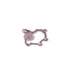 恒遠珠寶 18K金鉆石吊墜(白色、玫瑰色可選)