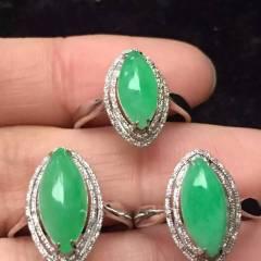 雅翠缘  新出一手绿马眼戒指,有种有色,饱满大气