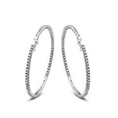 金银翠匯 照耀 18k白钻石耳饰