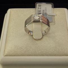 诚信钻石工坊   18K钻石戒指  主钻0.389克拉   DE.SI