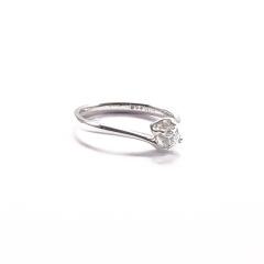 金九福   钻石戒指 总质量2.3024g 主石0.233ct/1