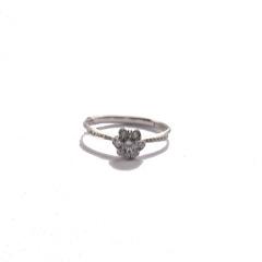金九福   钻石戒指 总质量1.7896g 主石0.182ct/1 副石0.160ct/20