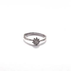 金九福   钻石戒指 总质量2.2679g 主石0.235ct/1