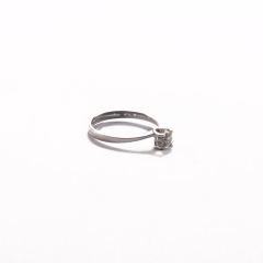 金九福   钻石戒指 总质量1.7557g 主石0.230ct/1 11#