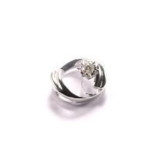 金九福   钻石吊坠 总质量1.7813g 主石0.096ct/1