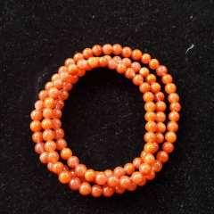 琪琪珠宝  南红手链0.5mm珠子108颗