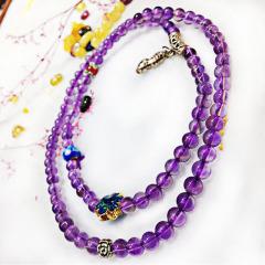 如玉閣 高貴奢華紫水晶手鏈 3圈銀配飾
