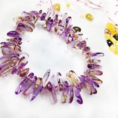 如玉閣 隨形紫水晶黃水晶 女款手鏈
