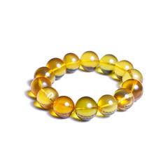 天然缅甸琥珀 黄金珠宝 金珀缅工手串 23.2g