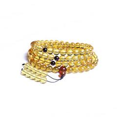 天然缅甸琥珀 黄金珠宝 金珀108颗佛珠 11mm 114.6g