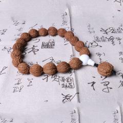 李三文玩   美國猴頭核桃手持2.2cm   時尚飾品手串