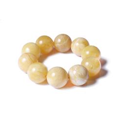 子軒閣   蜜蠟  圓珠手串  直徑23.5mm  重量75.2g   黃金珠寶玉器蜜蠟