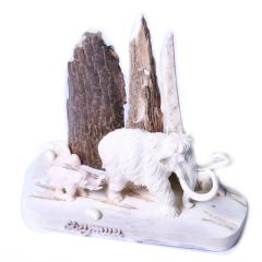 子轩阁  猛犸摆件  吉象   重量239.7克   奇趣收藏把件/摆件