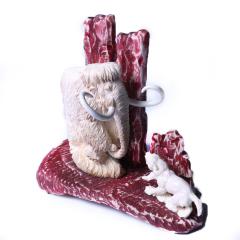 子轩阁  猛犸摆件  吉象   重量288克   奇趣收藏把件/摆件