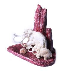 子轩阁  猛犸摆件  吉象   重量256.5克   奇趣收藏把件/摆件