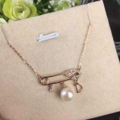 芭尚珠宝 K金珍珠项链