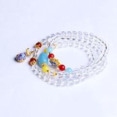 风生水起——尚品阁 时尚饰品 天然白水晶手串 连年发财 尺寸6 mm 重量36.3g