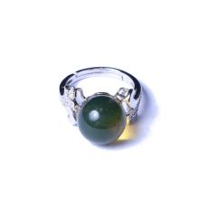 海龙琥珀 墨西哥蓝珀戒指(镶嵌)