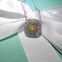 爱心钻石吊坠