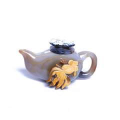 雅韻珍寶 玉器 瑪瑙 俏色瑪瑙壺
