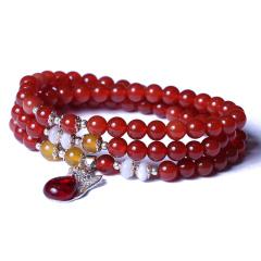 多宝阁 红玛瑙 珠子6mm