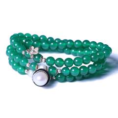 多宝阁 绿玛瑙手链 珠子6mm